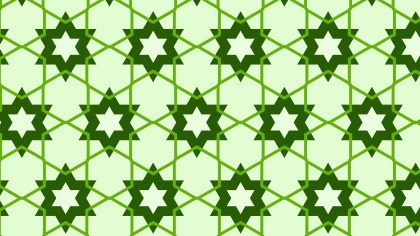 Green Seamless Star Pattern Background Vector