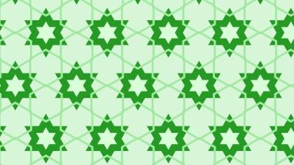 Green Stars Pattern Background Illustration