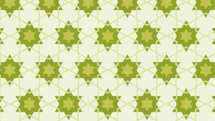 Green Seamless Stars Pattern Image