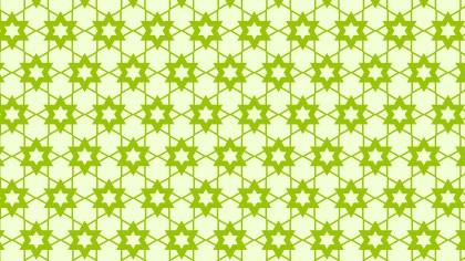 Green Star Pattern Vector