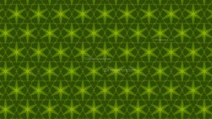 Dark Green Seamless Star Background Pattern Vector Illustration