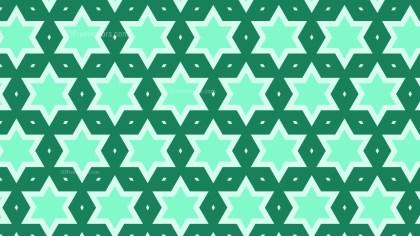 Mint Green Seamless Star Background Pattern