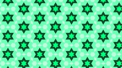 Spring Green Seamless Star Background Pattern
