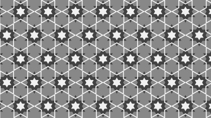 Grey Seamless Stars Background Pattern Vector Art