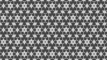 Dark Grey Seamless Stars Pattern