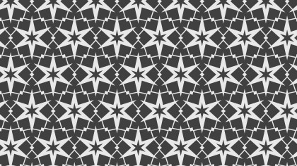 Dark Grey Star Pattern
