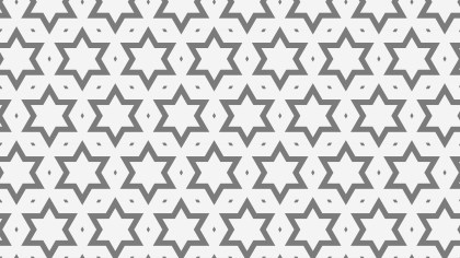 Grey Stars Background Pattern Vector