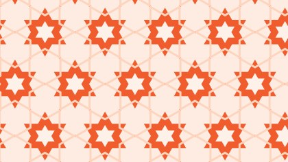 Orange Seamless Star Pattern Background