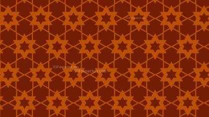 Dark Orange Stars Pattern Vector