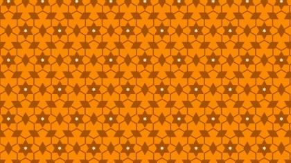 Orange Star Pattern Illustrator