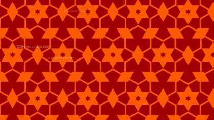 Dark Orange Stars Pattern Design
