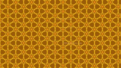 Dark Orange Stars Pattern