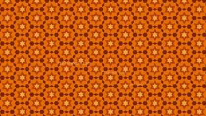 Dark Orange Star Pattern Design