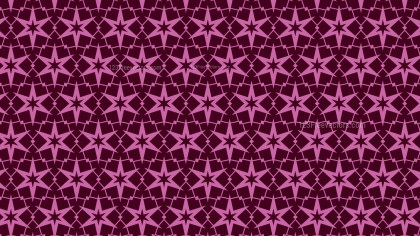 Pink Seamless Stars Pattern Background Vector Graphic
