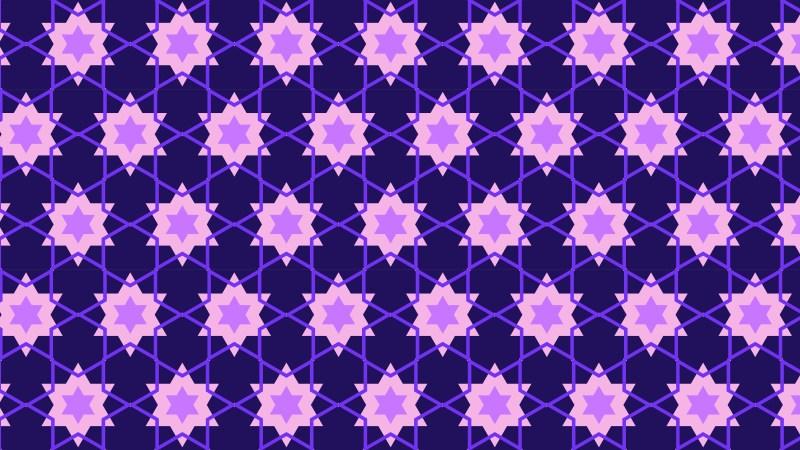 Purple Stars Pattern Background