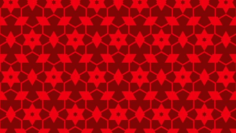 Red Seamless Stars Background Pattern Image