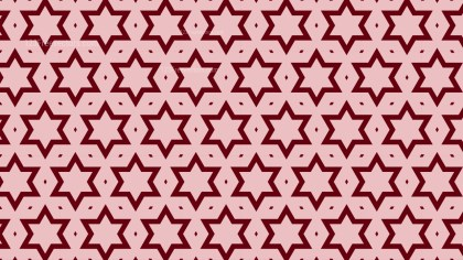 Red Seamless Stars Pattern Background Graphic