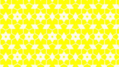 Light Yellow Seamless Stars Pattern Background
