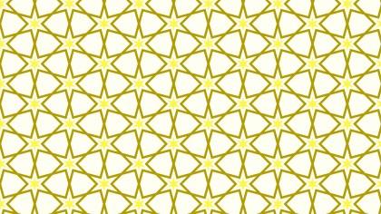 Light Yellow Star Pattern Vector Graphic