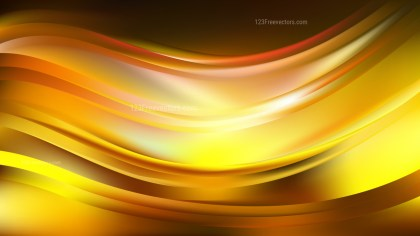Black and Yellow Wave Background