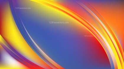 Glowing Abstract Colorful Wave Background Vector Graphic