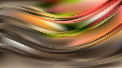 Abstract Dark Color Wave Background Vector