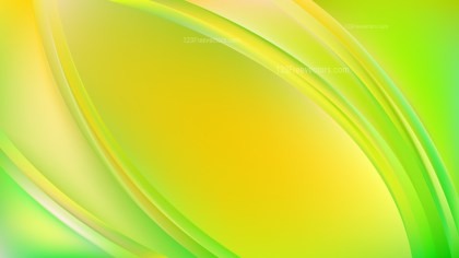 Green and Yellow Abstract Wave Background Template