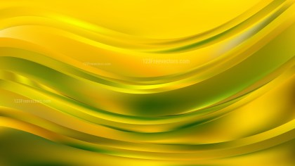 Abstract Green and Yellow Curve Background