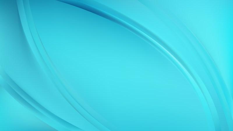 Glowing Light Blue Wave Background Design