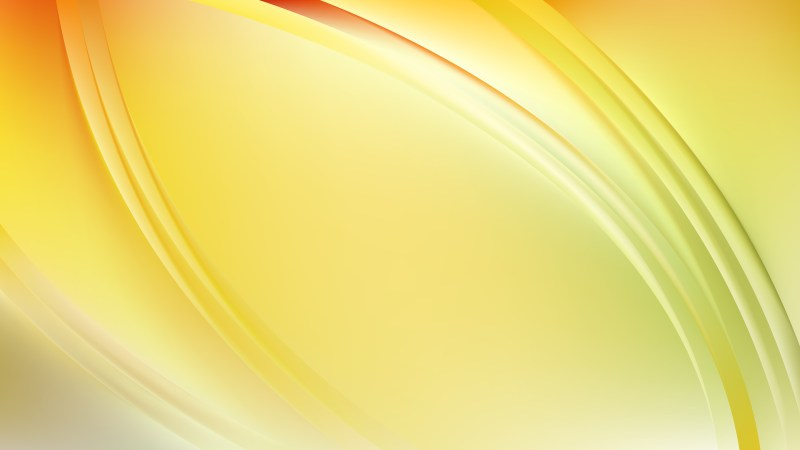 Abstract Glowing Light Yellow Wave Background