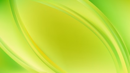 Abstract Lime Green Wave Background Template Illustrator