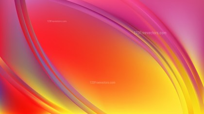 Abstract Pink and Yellow Wave Background Template Vector Graphic