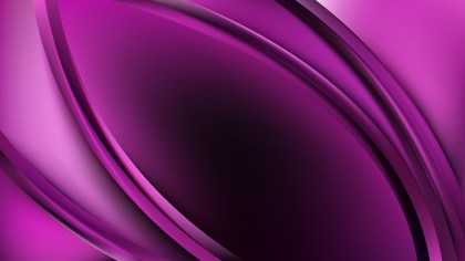 Abstract Glowing Purple and Black Wave Background