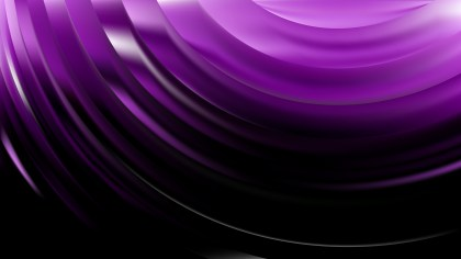 Abstract Purple and Black Wavy Background