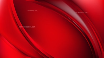 Abstract Glowing Red Wave Background Illustrator