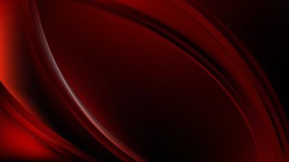Abstract Red and Black Wave Background Template