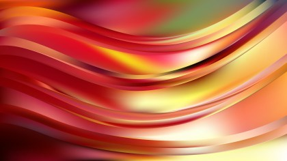 Abstract Red and Yellow Wavy Background Image