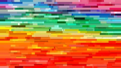 Abstract Colorful Horizontal Lines Background Vector Graphic