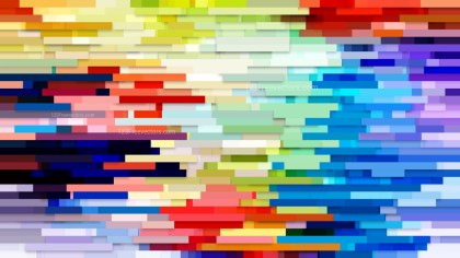 Abstract Colorful Horizontal Lines and Stripes Background Vector Image