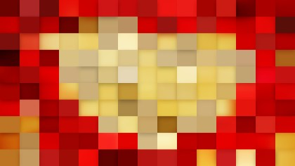 Beige and Red Square Mosaic Tile Background