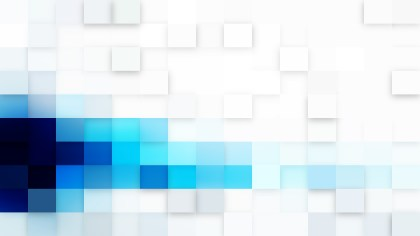 Abstract Blue and White Square Mosaic Tile Background Illustration