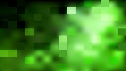 Abstract Green and Black Square Mosaic Tile Background Vector Illustration