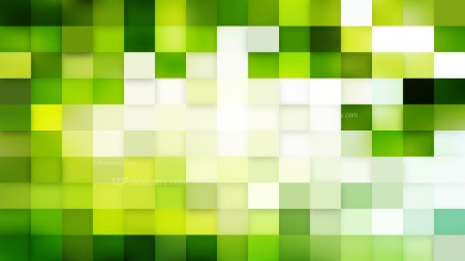 Abstract Green and White Geometric Mosaic Square Background Vector
