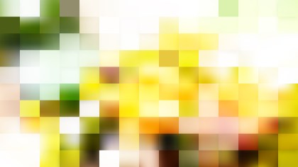 Green and Yellow Square Pixel Mosaic Background