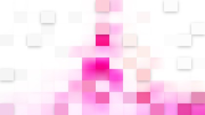 Pink and White Square Mosaic Tile Background