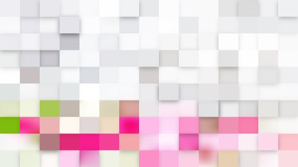 Pink and White Square Mosaic Tile Background Vector Illustration
