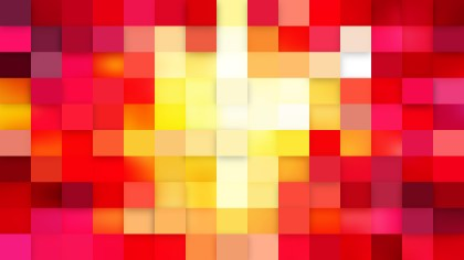 Red and Yellow Square Mosaic Tile Background Image