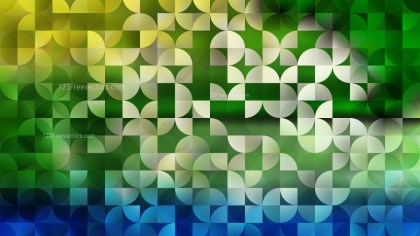 Blue and Green Abstract Quarter Circles Background Vector Image