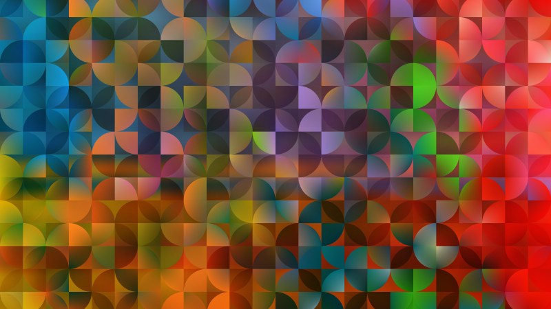 Abstract Colorful Quarter Circles Background