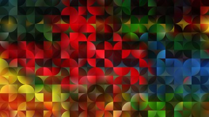Colorful Quarter Circles Background Vector Graphic